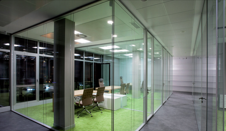 Mamparas oficina para despachos oficines muebles de for Muebles de oficina valencia