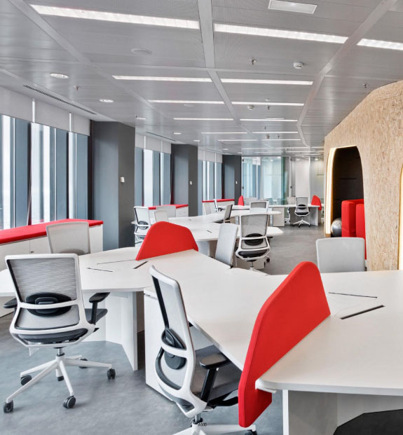 mesas de oficina blancas
