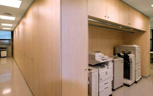 Tabique armario solución almacenaje