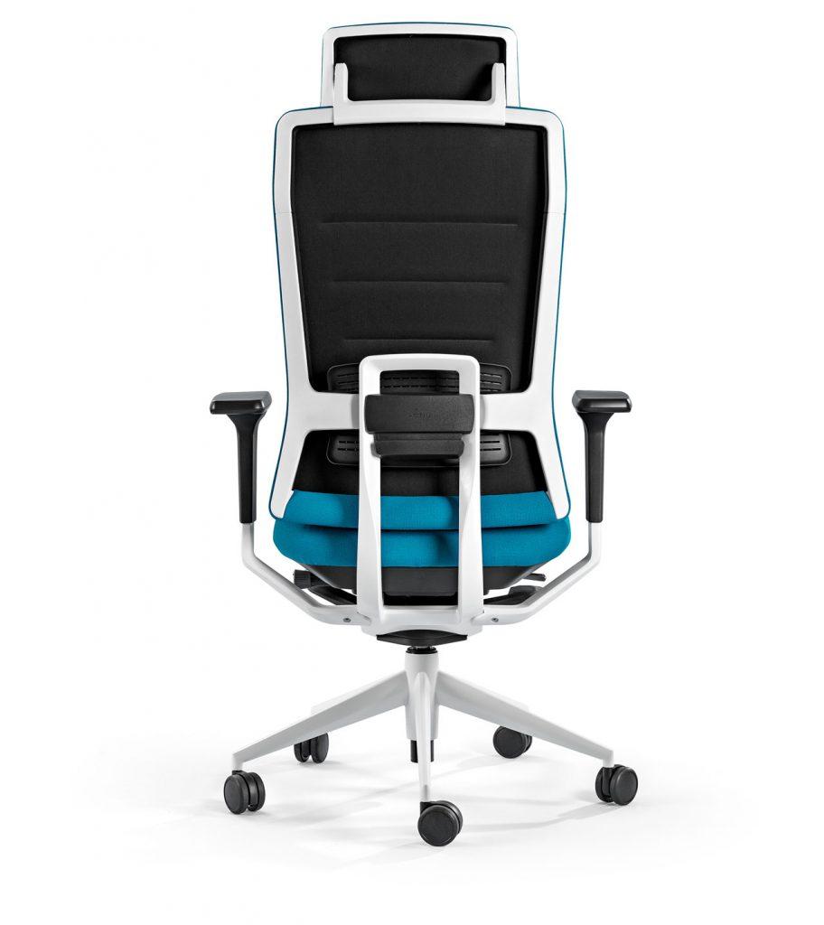 Silla de oficina negra y azul